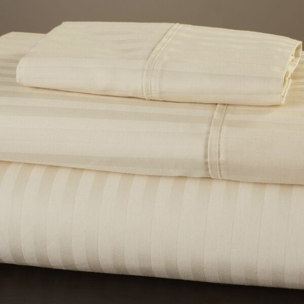 300 Thread Count 100% Premium Cotton Sheet Set by Alwyn Home
